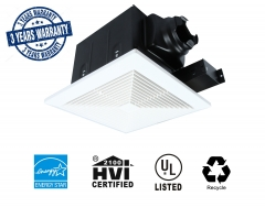 Akicon Ceiling Mounted Energy Star Rated and HVI Certified Bathroom Exhaust Fans Ultra Quiet Ventilation Fans Square 90 CFM 0.8 Sone